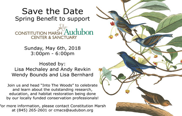 Spring Benefit for Constitution Marsh Audubon Center and Sanctuary